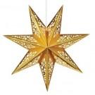 Pappstjärna Vallby Guld 75cm