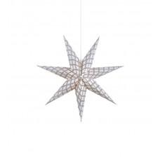 Stjärna Grafik Grå/Vit 75cm