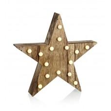 Dekoration Hadar 15 LED Star Natur