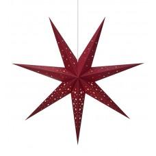 Stjärna Solvalla 75cm Mörkröd