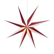 Stjärna Alva 75cm Röd/Vit