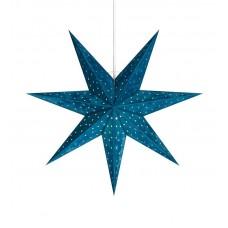 Stjärna Velours 45cm Blå