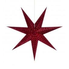 Stjärna Velours 75cm Röd